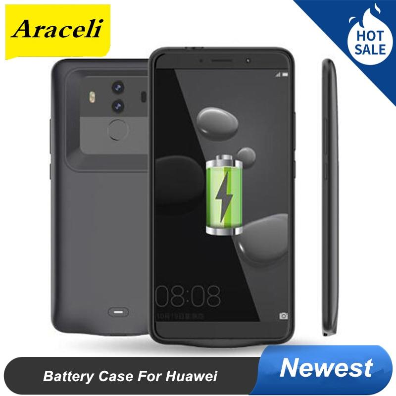 Funda de alimentación para Huawei Mate 9 10 Pro, Funda de cargador de batería para Huawei honor V10 P10 Plus, Funda de batería de silicona suave