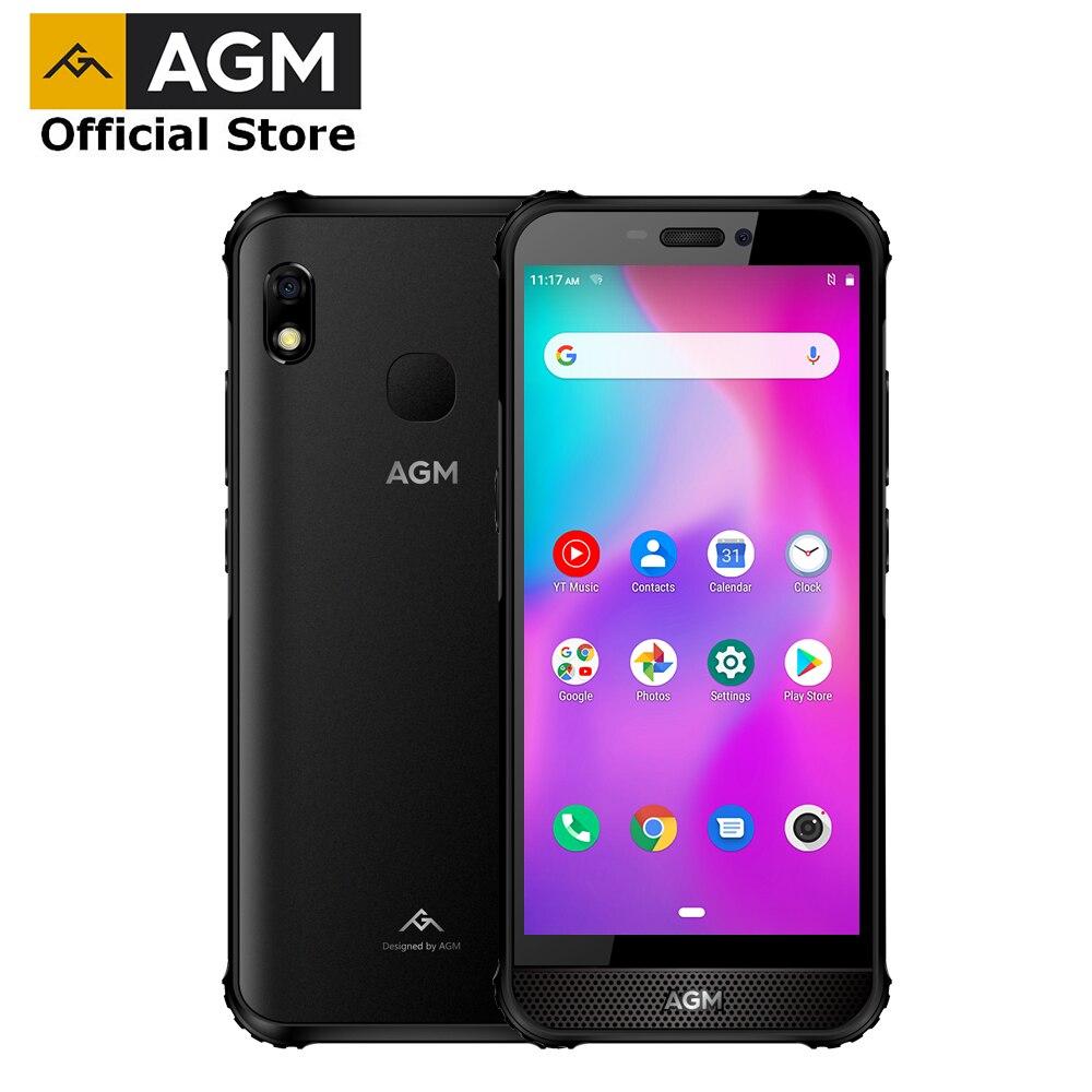 Перейти на Алиэкспресс и купить Официальный AGM A10 4GB 128GB смартфон NFC мобильный телефон IP68 Водонепроницаемый прочный телефон 5,7 дюймAndroid™9 мобильный телефон с фронтальным размеще...