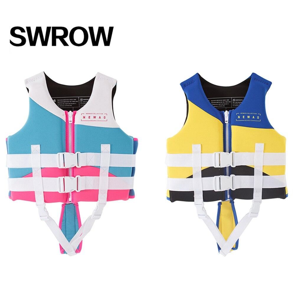 Спасательные жилеты для мальчиков и девочек, теплый жилет для плавания и плавания, для водного плавания и Сноркелинга, обучения плаванию, 2021