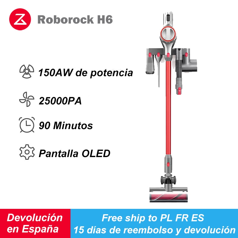 Roborock H6 Adapt Handheld Wireless Vacuum Cleaner 2500pa Portable Cordless Cyclone Filter Cleaner Dust Collector Aspirator