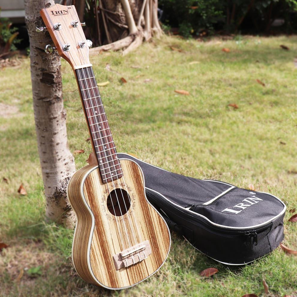 21 Inch Soprano Ukulele Wood 15 Fret Four Strings Guitar + Bag + Tuner + String + Strap + Cloth For student beginner enlarge