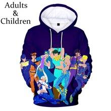 Mode JOJO Casual Beliebte Harajuku Kinder kinder 3D Hoodies JOJO jungen mädchen Mit Kapuze Männer frauen Herbst 3D kinder Sweatshirts