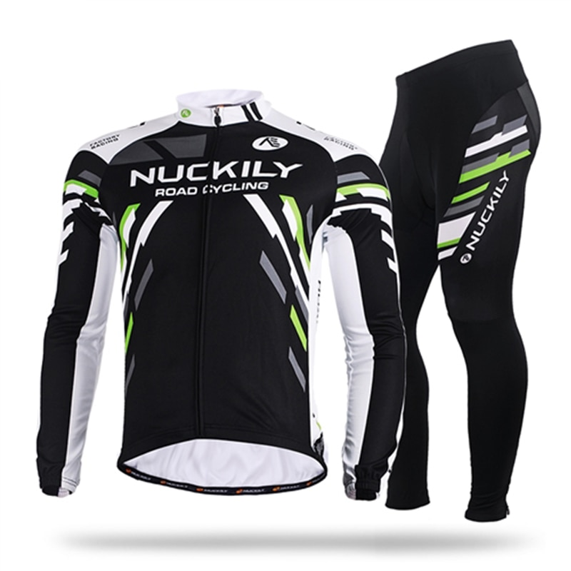 NUCKILY Cycling Clothing Winter Thermal Fleece Men's 2021 Pro Team Cycling Jerseys MTB Bike Maillot Ropa Ciclismo Sportswear