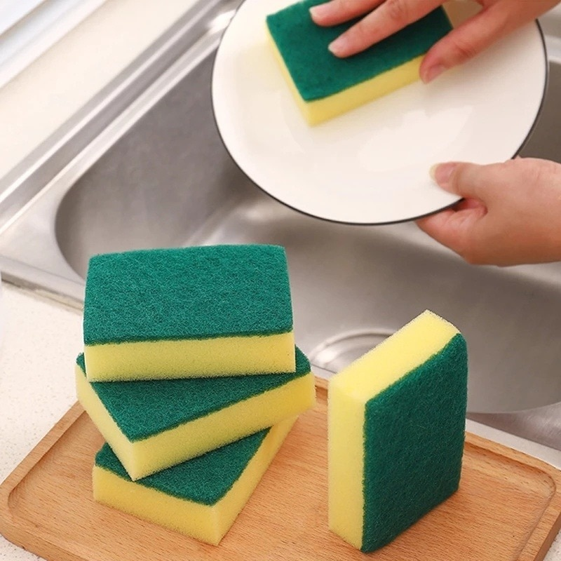 Kitchen Cleaning Tools Washing Towels Wiping Rags Sponge Scouring Pad Microfiber Dish Cleaning Cloth Sponges High Density Sponge недорого