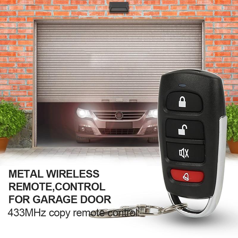 Прямая поставка, 1 шт., универсальный автомобильный пульт дистанционного управления 433 МГц, Умная Замена Электрической двери гаража, клониро...