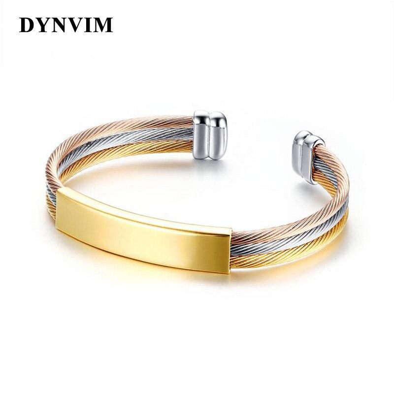 Hot Luxury Gold Silver Stainless Steel Bracelets Bangles Female Charm Bracelet for Women Jewelry