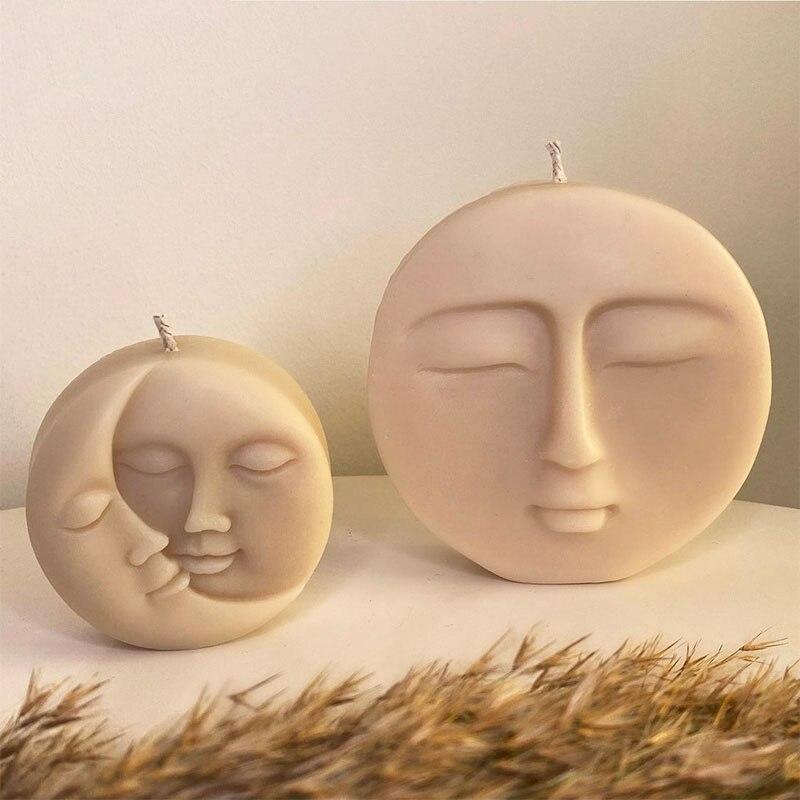 Силиконовая форма в виде свечи, креативная форма в виде свечи Инь-Янь, форма для ароматерапии в виде свечи и мыла