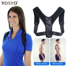 YOSYO Brace Support Belt Adjustable Back Posture Corrector Clavicle Spine Back Shoulder Lumbar Postu