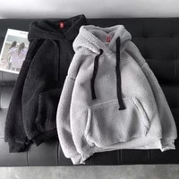 female fashion sweatshirt long sleeve solid loose pocket thick hoodies women autumn winter hooded print fleece flannel pullover