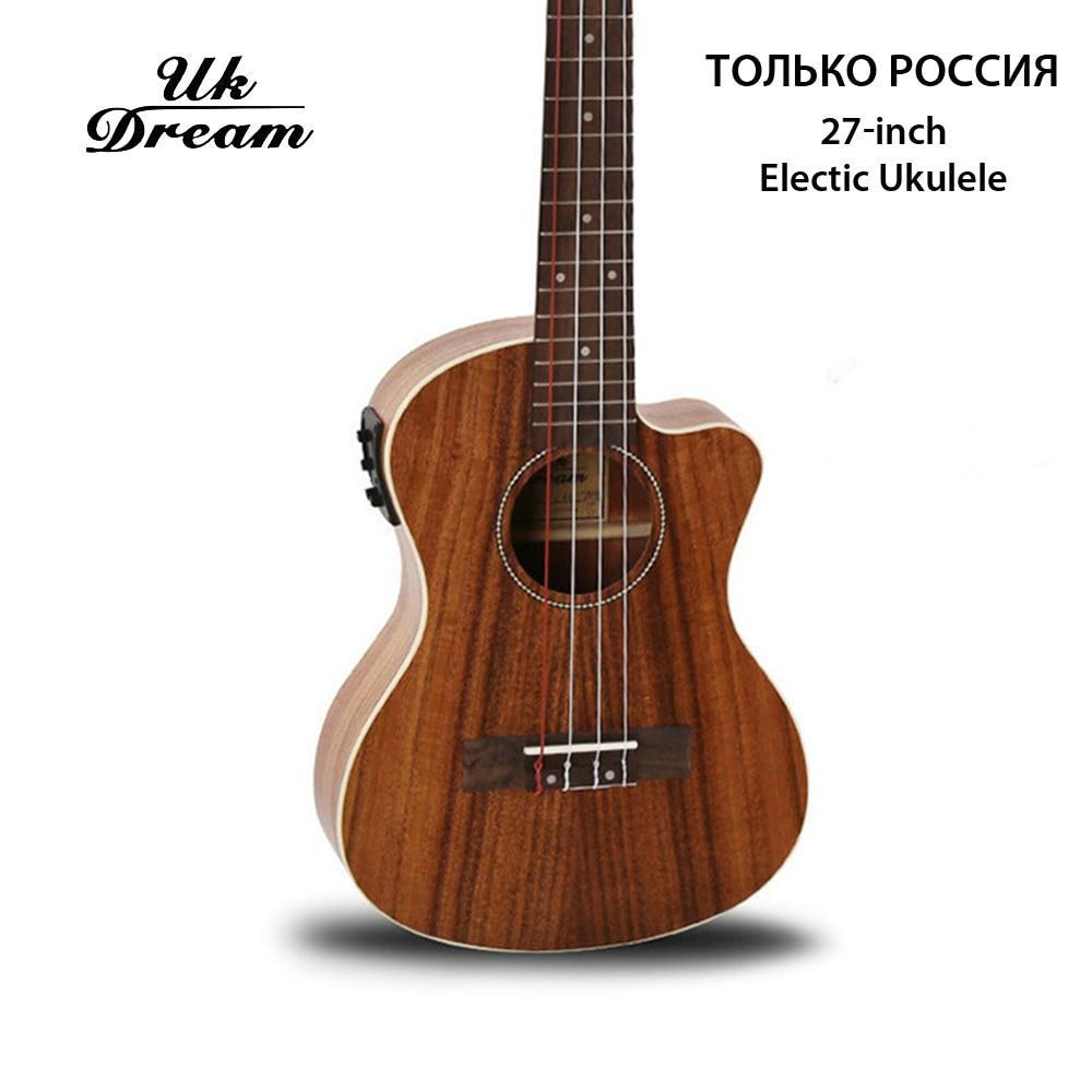 26 polegada mini guitarra elétrica acacia ukulele com caixa elétrica lascar clássico 4 cordas fechado botão da guitarra reino unido sonho UT-C8QE