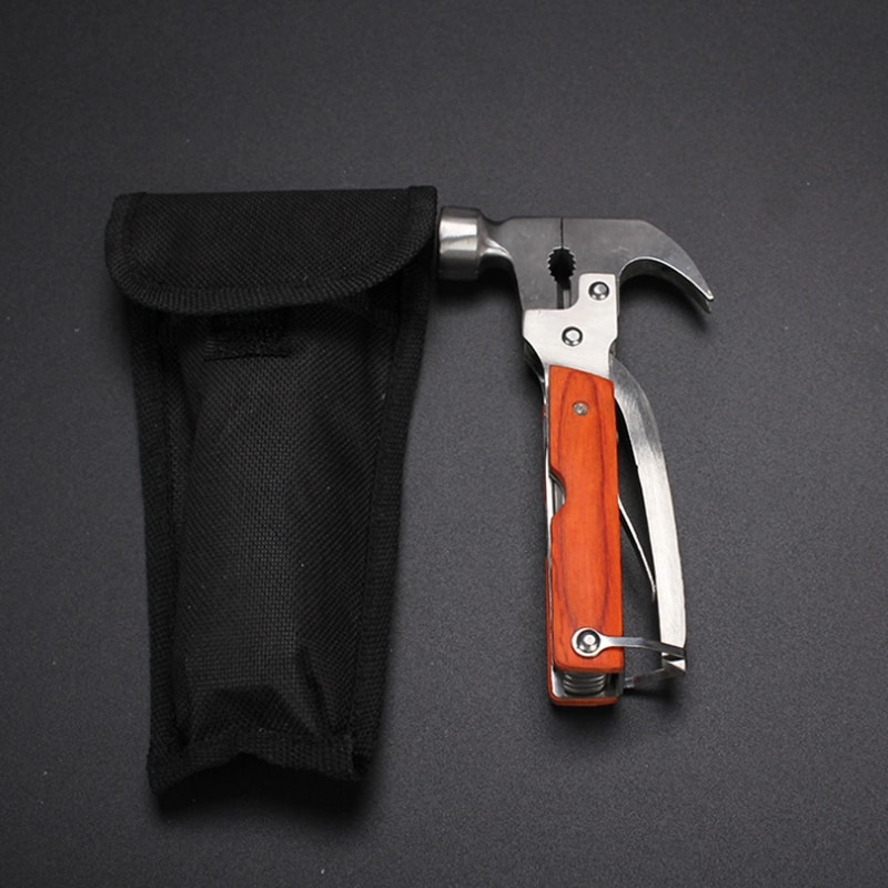 multifunctional axe hammer portable tool car lifesaving hammer broken window hammer camping equipment outdoor activities New 16 In 1 Outdoor Camping Multifunctional Tool Axe Hammer Car Stainless Steel Folding Knife Vehicle Emergency Tool Screwdriver