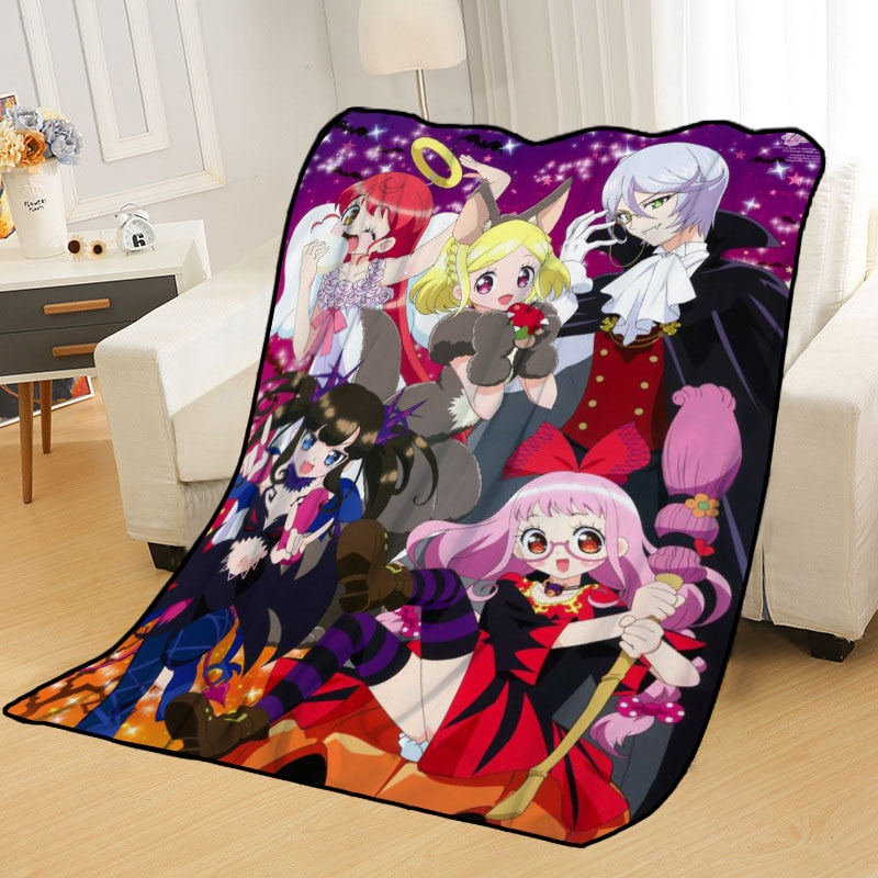 Idol time Pripara-بطانية محمولة للكبار ، غطاء سفر ناعم مع طباعة للمنزل أو الأريكة أو الفراش