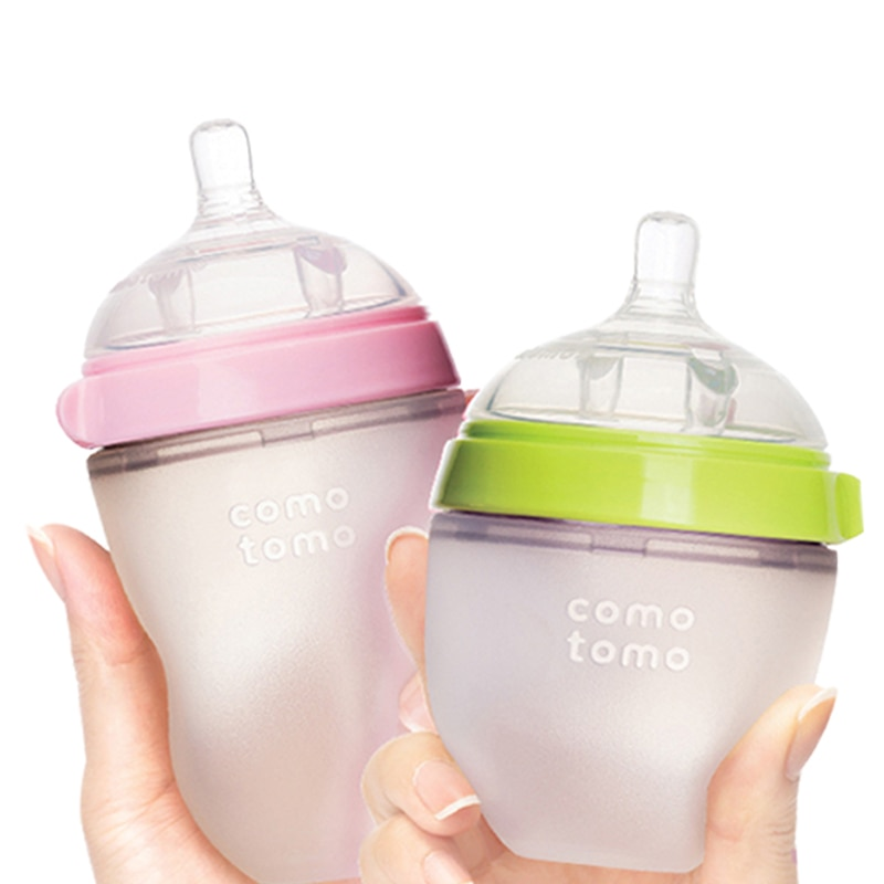 silicone-baby-bottle-green-pink-5-oz-and-8-oz-baby-bottles-2-pack-bpa-free-bottle-children