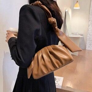 new 2021 Messenger Shoulder Bag creative soft PU solid color handbag Bags for women