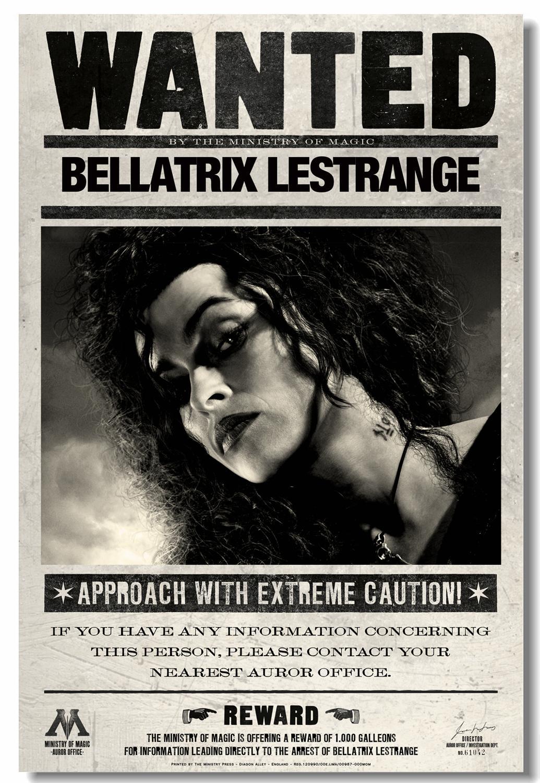 Personalizado lienzo impresiones para pared Retro HP5 cartel profeta pegatinas de pared de Bellatrix Lestrange Helena Carter Papel #0658 #