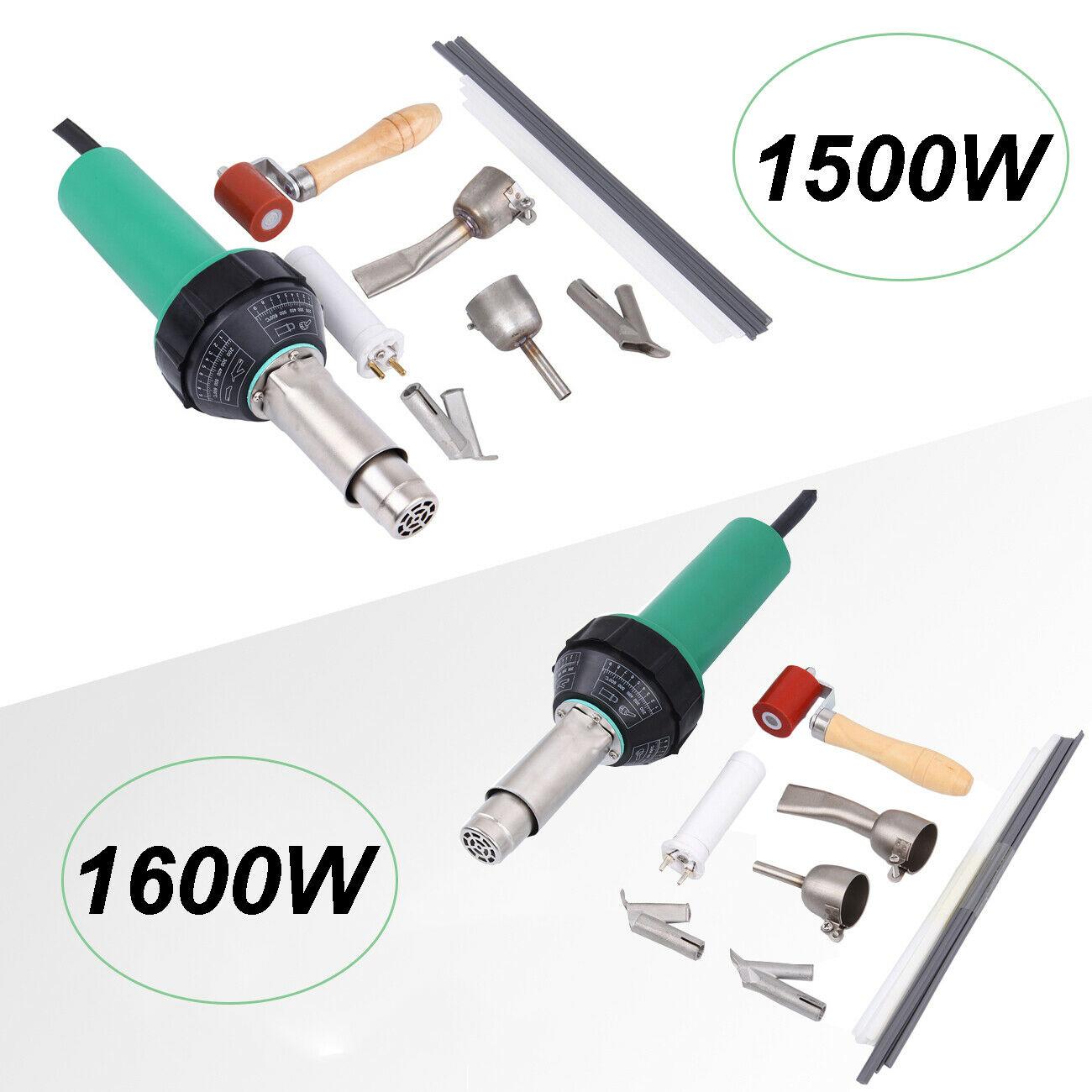 Honhill-مسدس الهواء الساخن لحام بلاستيك ، مجموعة مسدس مع فوهة لحام وقضيب بلاستيك PVC ، تيار متردد 220 فولت 1500 واط/1600 واط