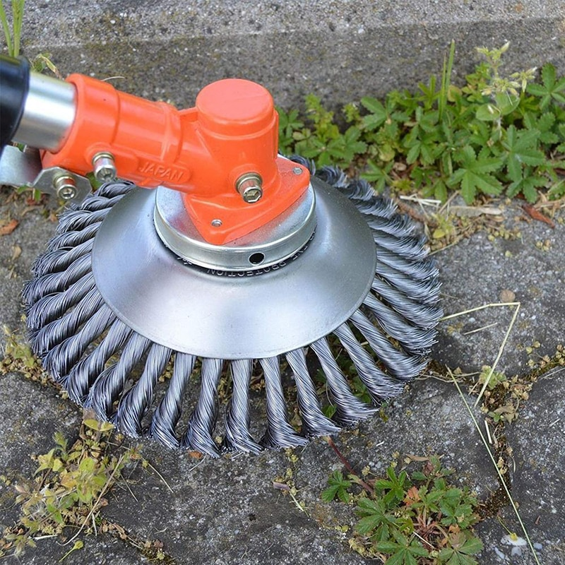 150mm Steel Wire Grass Trimmer Head Rounded Weed Brush Removal Tray  for Lawnmower 2021 Rug