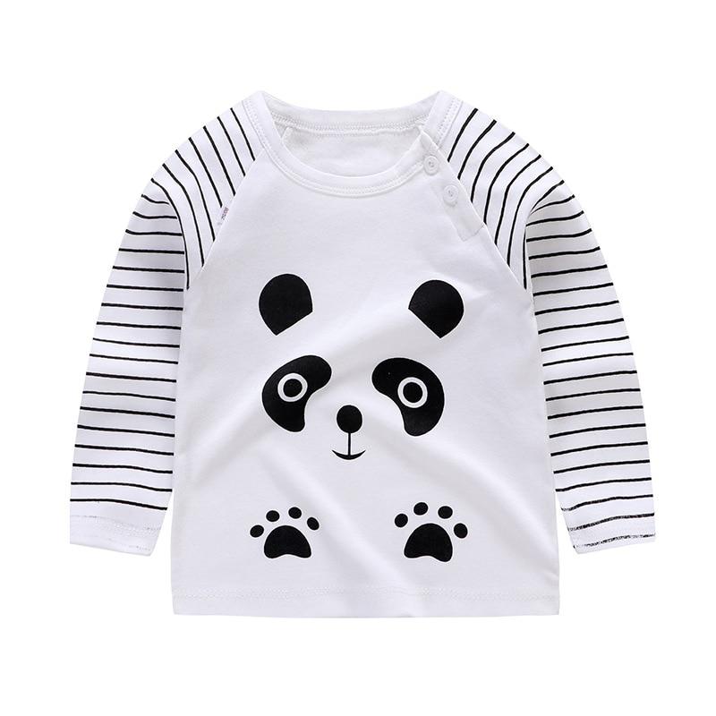 NEW Unisex Autumn Winter Cotton T shirt Cartoon Long Sleeve Baby Boys Girls Tees Kids Children Casual Clothing long sleeve tops