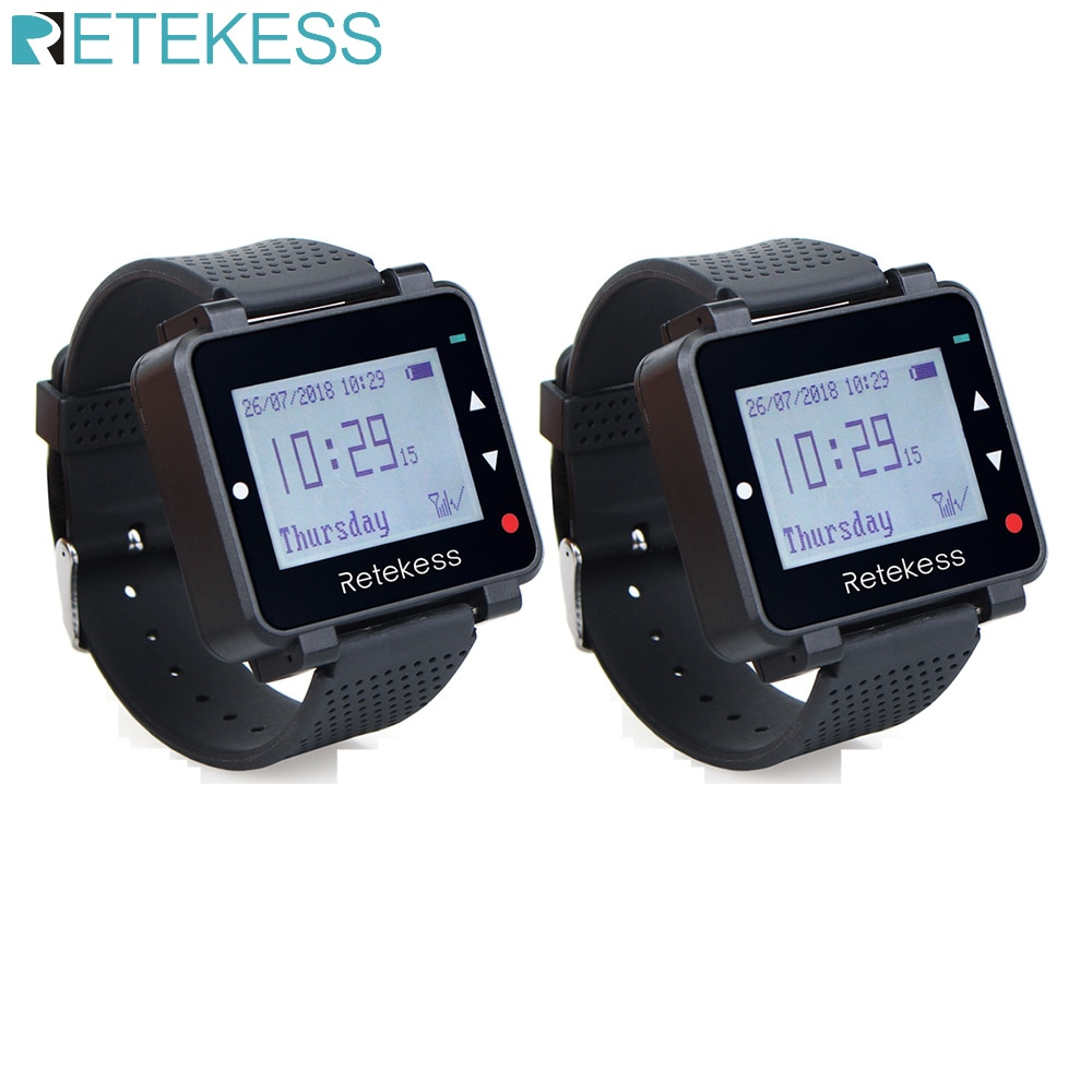 Retekess T128 Wireless Calling System Call Waiter Cafe Office Pager Restaurant Equipment office 2pcs