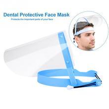 HOT SALE 1PC Transparent Adjustable Protect Mask Splash-proof Dust-proof Mask Head-mounted Blue Pink Anti-fog For Men Women Saft