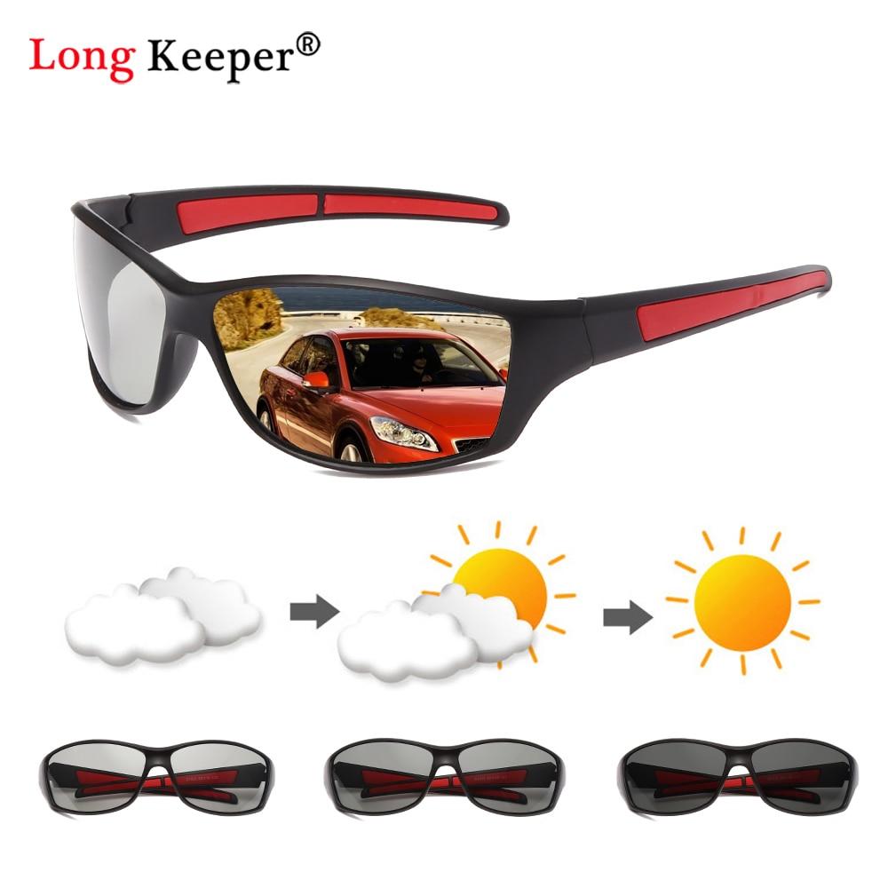 Vintage Square Photochromic Polarized Sunglasses Men Polarized Chameleon Sun Glasses Women Glasses M