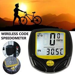 Velocímetro digital à prova d água, velocímetro digital sem fio para bicicleta, odômetro, ciclismo, contador de velocidade, código, acessórios para mesa
