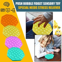 Push Bubble Fidget Sensory Toy Autism Special Needs Stress Reliever Stress And Increase Focus Educat