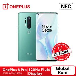 Глобальная прошивка Oneplus 8 Pro 5G Смартфон Snapdragon 865 8G 128G 6,87 ''120 Гц жидкости Дисплей 48MP Quad 513PPI 30 Вт Беспроводной зарядки