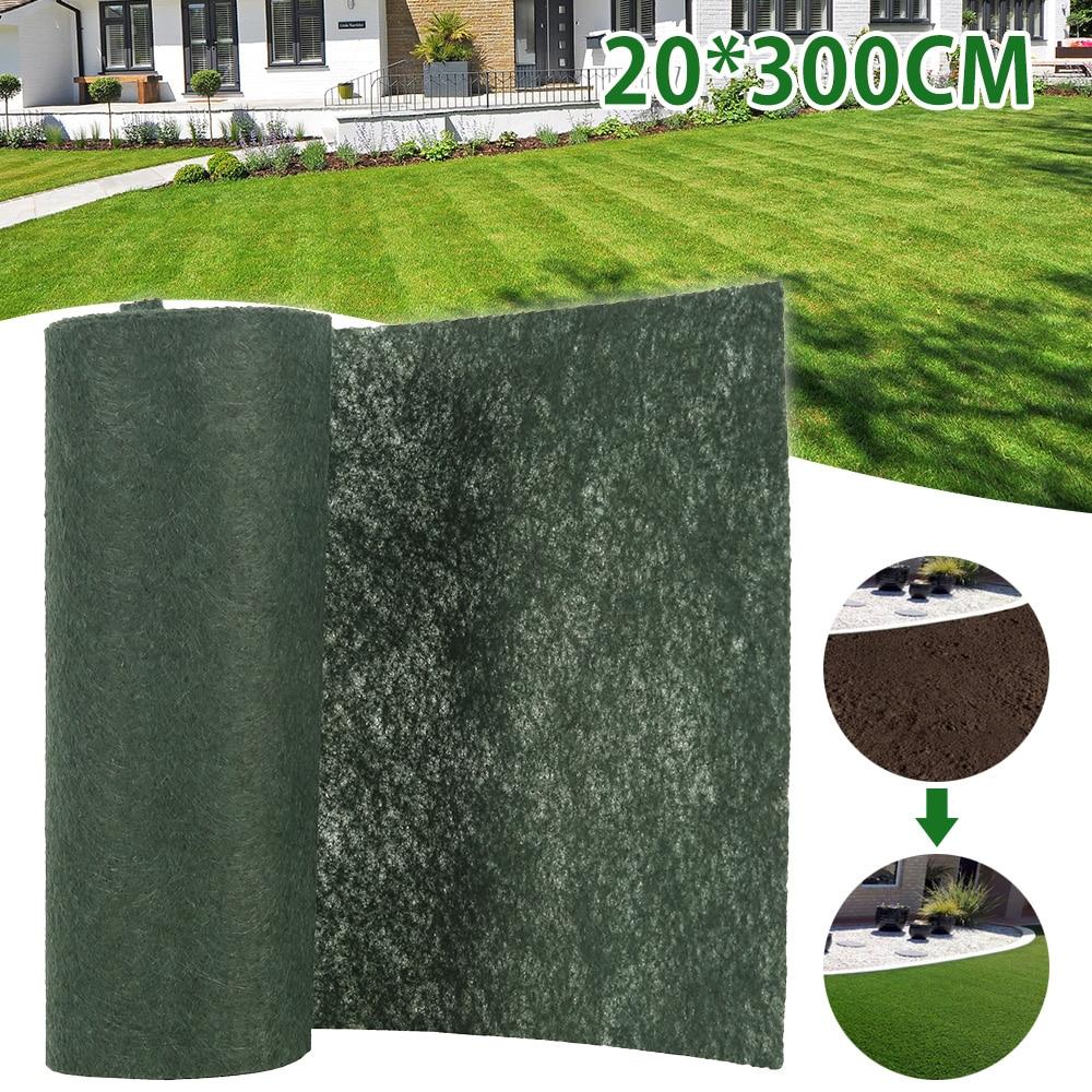 生分解性草種子マット種子スターターマット 3 メートル × 0.2 メートル草種子カーペット種子スターターマットガーデン用品