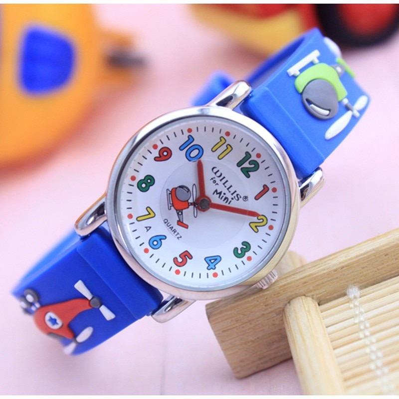 New Car Rocket Design Analog Band Boys Girls Children Kids Watches Wristwatch Students Relogio Montres Kol Saati