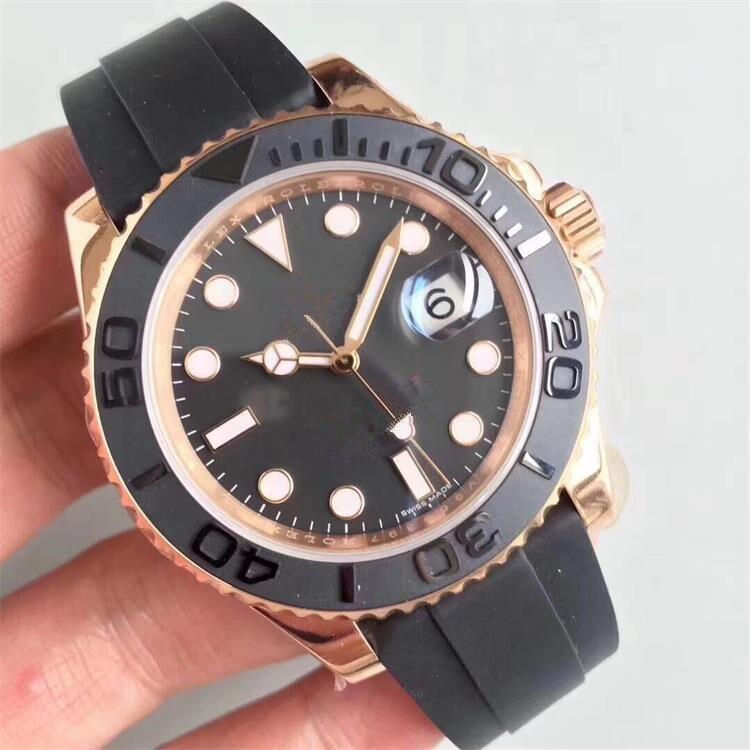 Relojes de alta calidad para Hombre, de marca superior de lujo, Reloj de pulsera automático de silicona para Hombre, Reloj masculino, Reloj para Hombre