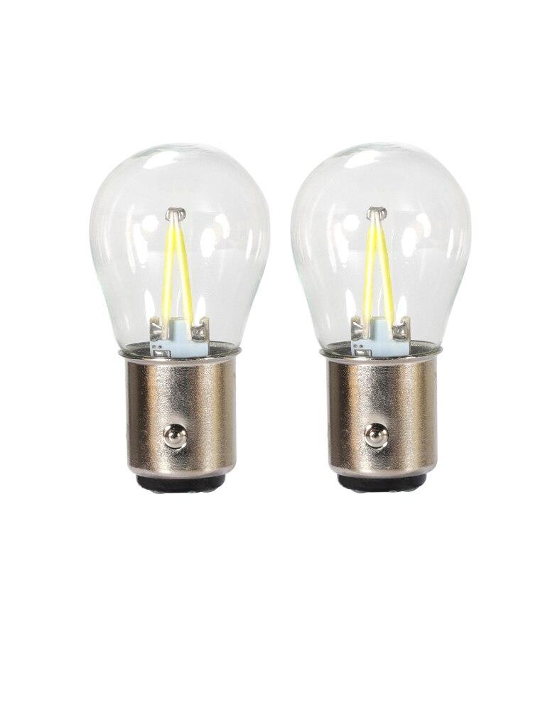 P21W LED BA15S 1156 Chips de filamento COB lámpara de señal de giro 1157 BAY15D P21/5 W bombillas LED luces de coche Freno de marcha atrás Auto DC 12V led
