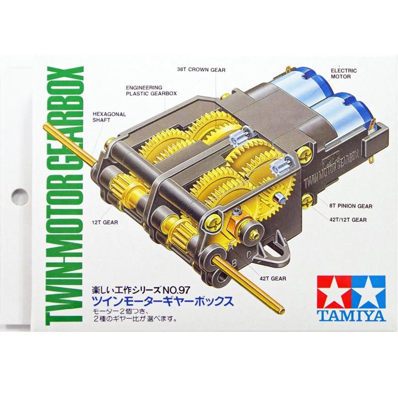 Tamiya 70097-مجموعة علبة التروس ذات المحرك المزدوج ، لمجموعة بناء الروبوتات التي يتم التحكم فيها عن بعد