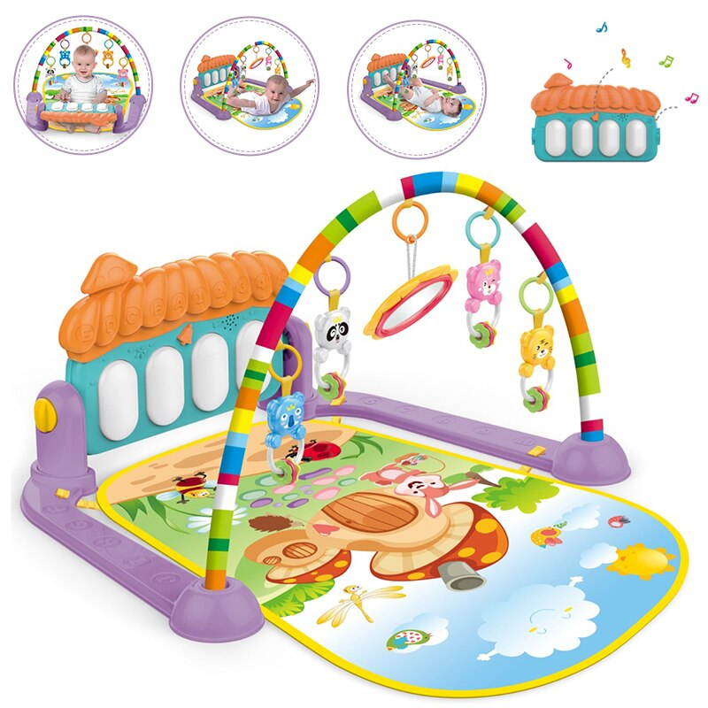 infant baby flying chess waterproof play mat early learning toy fitness bodybuilding frame crawling mat kick play lay sit toy Baby Music Rack Play Mat Kid Rug Puzzle Carpet Piano Keyboard Infant Play Mat Early Education Gym Crawling Toy christmas gift