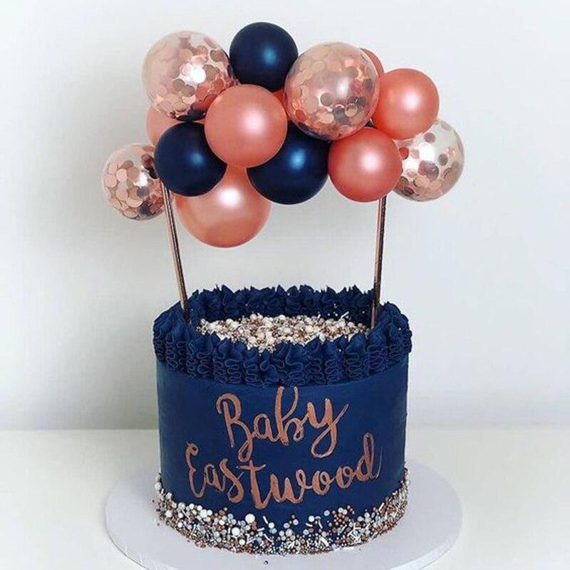 1 Набор креативных 10 шт 5-дюймовых шаров для торта, набор для украшения торта на день рождения, украшения для детского душа, свадебные украшения, принадлежности