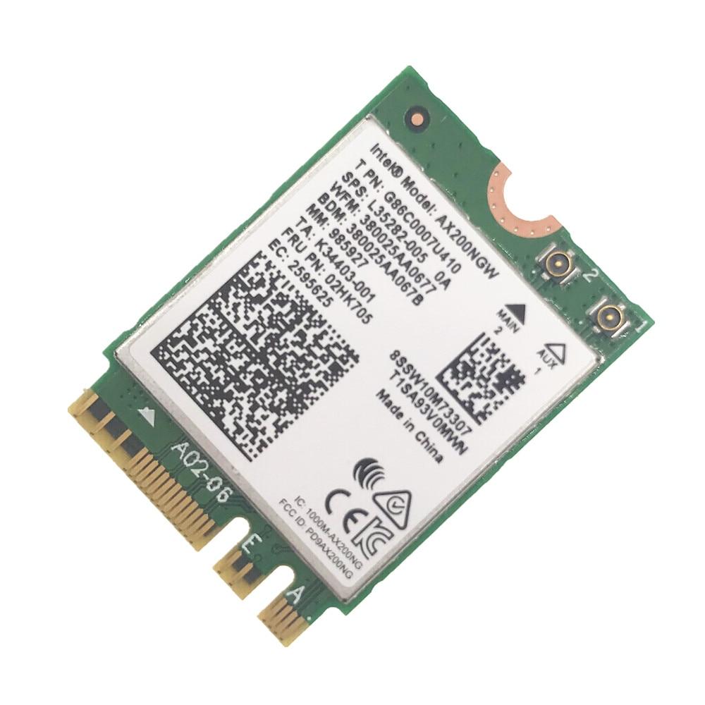 Двухдиапазонная Wi-Fi сетевая карта для Intel AX200 AX200NGW 1730 Мбит/с 802.11AC/AX NGFF M.2 Bluetooth 5,0