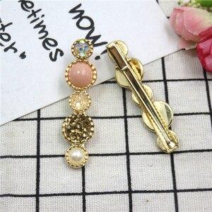 12PCS/LOT Simple Women Girls Elegant Pink Garden Pearls Hair Clip Sweet  Hair Scrunchy Hairpins Barrettes  Hair Accessories