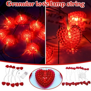 Valentine's Day restrictions Love lamp string Romantic bedroom LED battery light string Party DIY decoration Gifts girlfriends