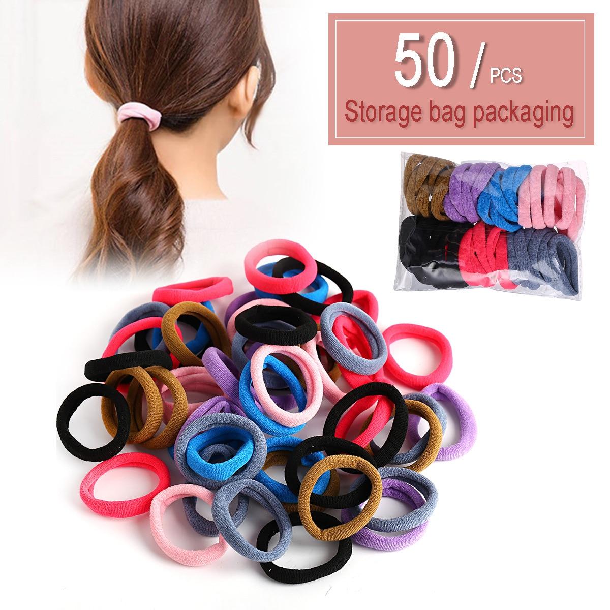 Nova cor sólida faixa de cabelo criativo retro simples multi-cor conjunto de faixa de cabelo elástico sem costura