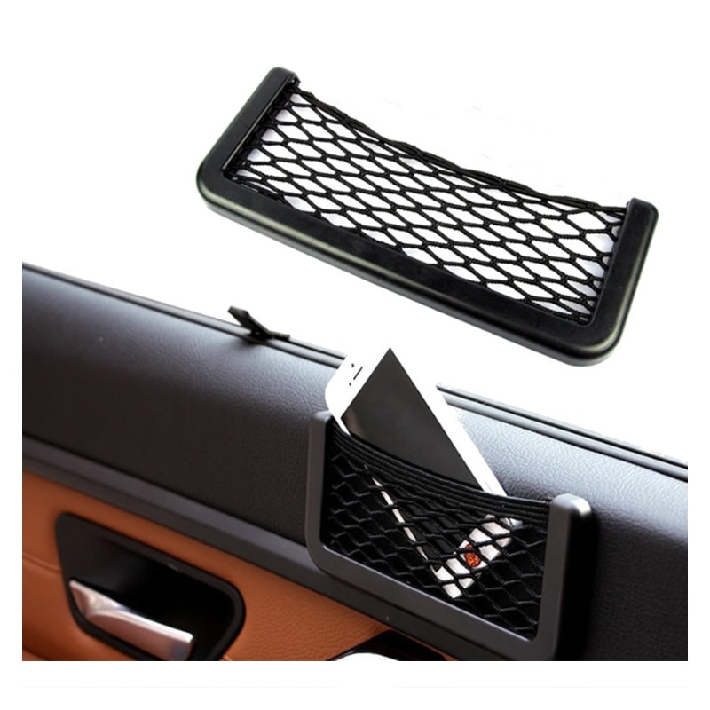 Автомобильная сетка для хранения сумка для телефона держатель для хранения автомобиля сетка держатель карман для автомобиля из сетчатой т...