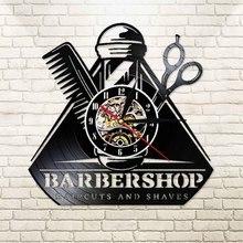 Do salonu fryzjerskiego 3D Decor oświetlenie naścienne LED zestawy narzędzi fryzjerskich dekoracyjne laserowo wycinane Longplay zegarek zegarowy fryzjer włosy na ścianę salonu Art. No.