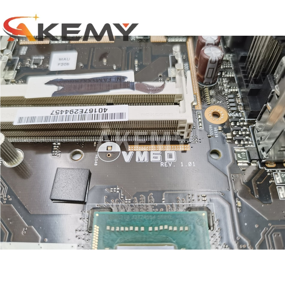 New Akemy VM60 Mainboard For ASUS VM60 All-in-one Mini PC Motherboard 100% Test OK I3-3217 CPU