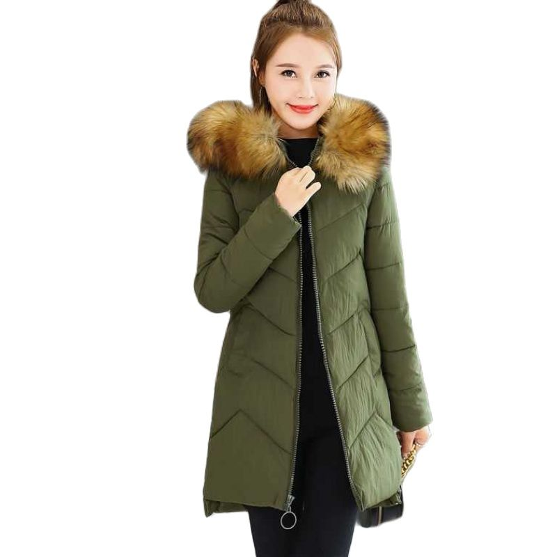 2021 New Winter Coat Women Plus Size Windproof Long Parkas Stylish Hooded Thick Womens Jacket