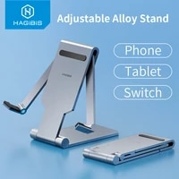 hagibis phone stand adjustable desk tablet cell phone holder foldable multi angle for ipad iphone 12 xiaomi kindle huawei switch