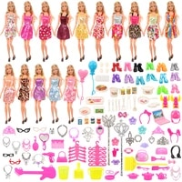 fashion cheap doll accessories kids toys 15 dress 114 accessory clothes shoes laptop kitchen kits for barbie dressing game
