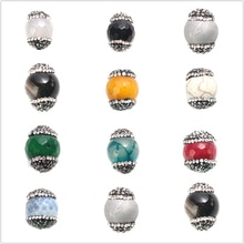 Boîte Doreen (Grade A) face perles de pierre précieuse perles naturelles avec strass bijoux Making19mm x14mm trou environ 1.4mm 1PC
