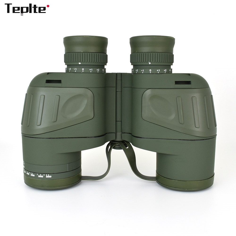 10X50 Waterproof Optics Military Binocular Telescope Shockproof Spotting Scope with Compass for Camping Travel Hunting Boshiren