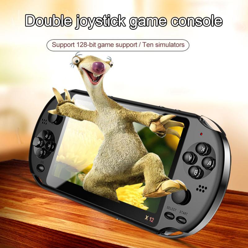 X12 10000 Spiele Player Großen Bildschirm Handheld-Spiel-Spieler unterstützung MP3 Kamera Video TV ausgang Text lesen Multimedia Spiel Konsole