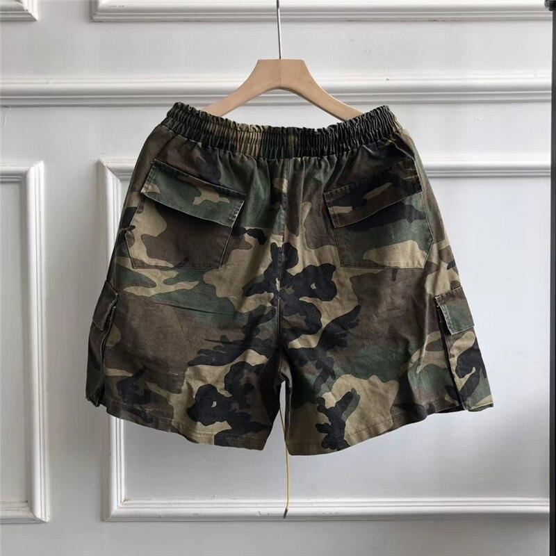 2020ss Camouflage RHUDE Shorts 1:1 Men Women Sport Top quality Multi Pockets Beach Sportswear Drawstring RHUDE Shorts недорого