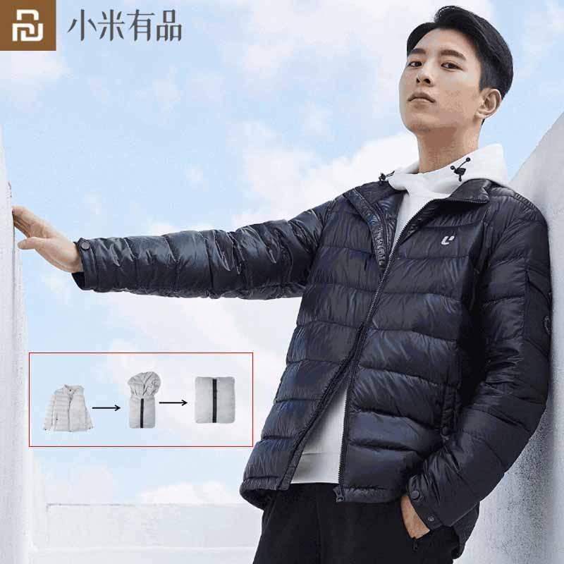 Youpin ULEEMAR-معطف رجالي من المخمل ، 90% أبيض ، سترة دافئة من ريش الإوز ، سهل الحمل ، المستوى 3 ، مقاوم للماء والرياح